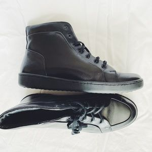 Kenneth Cole Black Leather High-Tops